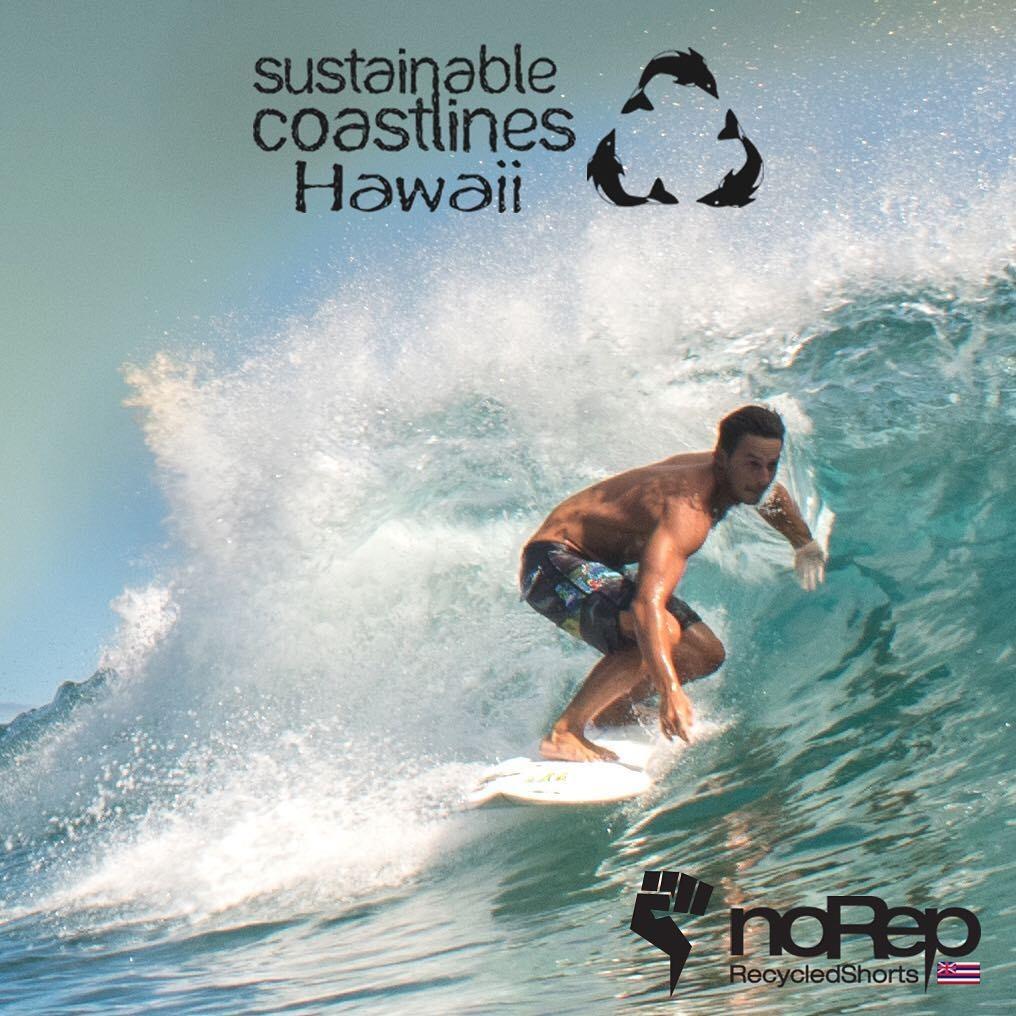 ハワイのリサイクル素材サーフパンツ